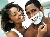 Luxury Black Men Shaving